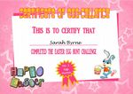 Easter Certificate Design 2